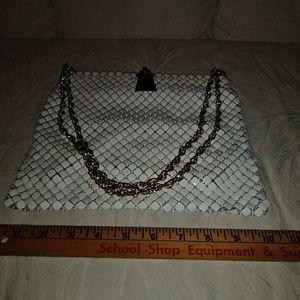 Handbags - Whiting and Davis white metal mesh bag